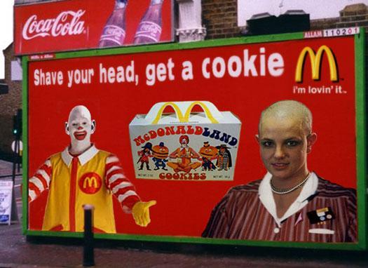 Brit's bald