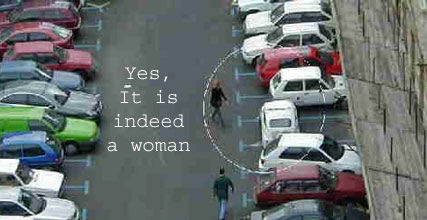 It is indeed a woman