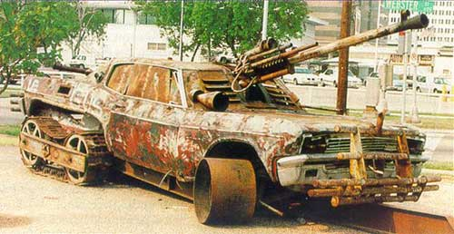 The tank of Bin Laden