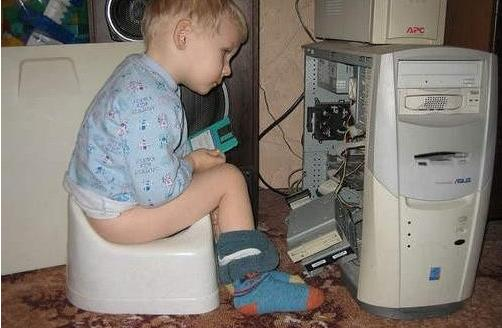 Baby n computer