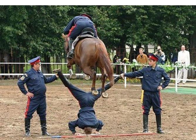 If the horse slip