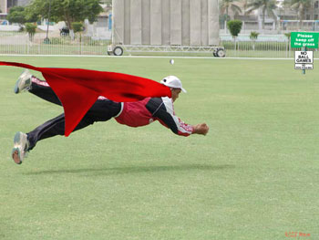 The cricket's superman