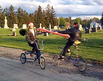 Cycling joust
