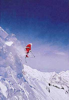 Sportsmen photo - Santa Claus skis