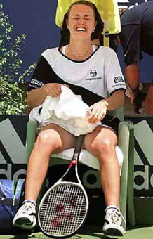 Celebrity photos - Hingis cries