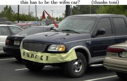 The wifes car