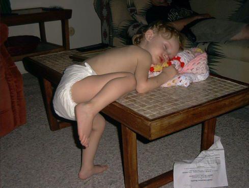 Sleepy kid