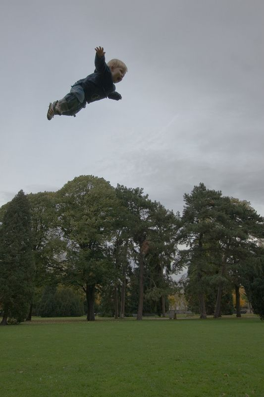 Flying kid