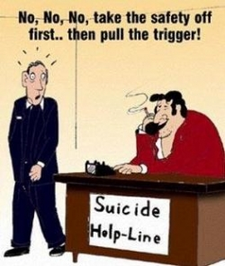 Funny photos - Suicidi help line