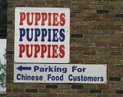 Funny photos - For Chinese food customers