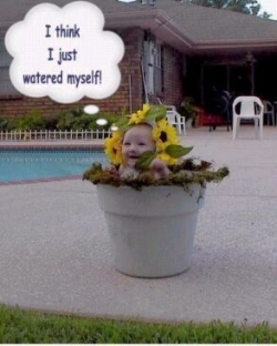 Baby pictures - Watered myself