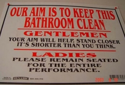 Funny photos - Keep bathroom clean