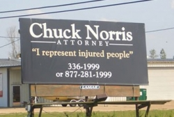 Funny photos - Chuck Norris Attorney