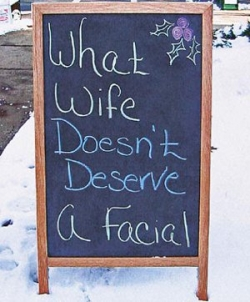 Funny photos - Deserves a facial