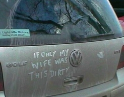 Funny photos - Dirty car