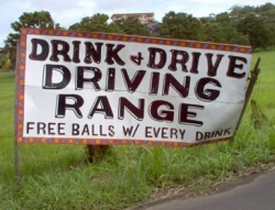Funny photos - Driving range