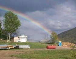 Funny photos - The end of the rainbow