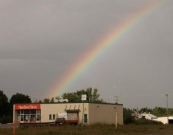 Funny photos - The start of the rainbow
