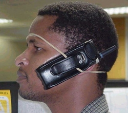 Funny photos - Hands free cell fone