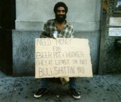 Funny photos - Honest beggar