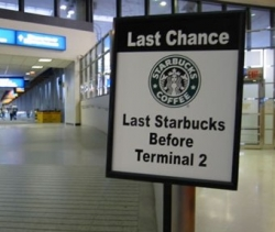 Funny photos - Last starbucks