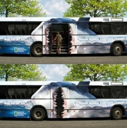 Funny photos - The bus is eating man