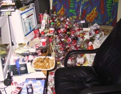 Funny photos - Messy guy