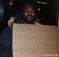 Funny photos - Need money for Kungfu