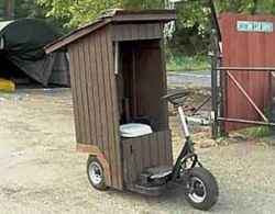 Funny photos - The portable out house