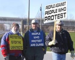 Funny photos - Protestors