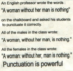 Funny photos - Punctuation is powerful