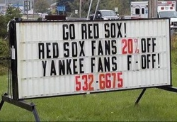 Funny photos - Red Sox's fan