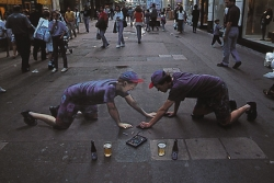 Funny photos - The side walk artists