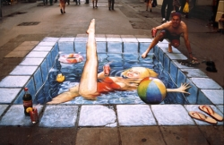 Funny photos - Side walk swimming pool