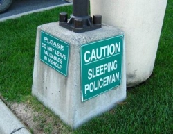 Funny photos - Sleeping policeman