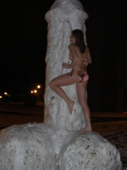 Playboy photos - Very manly snowman