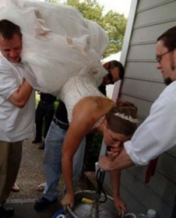 Funny photos - Bride drunk