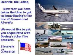 Funny photos - A letter for Bin Laden