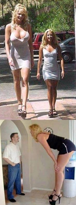 Funny photos - Tall woman