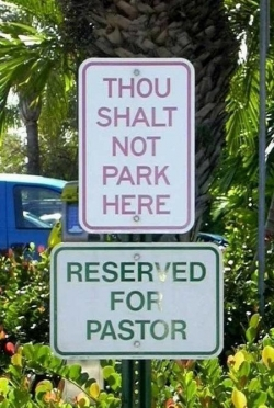 Funny photos - Reserved for pastor