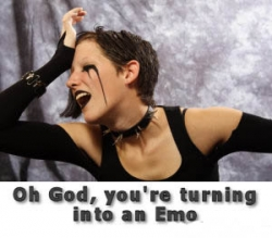 Funny photos - Emo girl