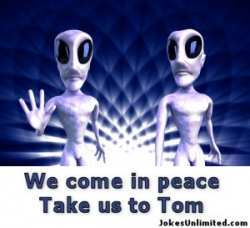 Funny photos - We come in peace