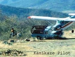 Funny photos - Kamikaze pilot