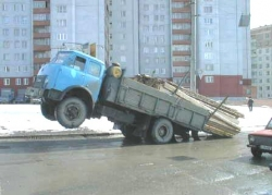 Funny photos - The greedy driver
