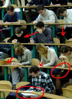 Funny photos - Copy in the exam