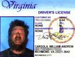 Funny photos - Driver's license prank