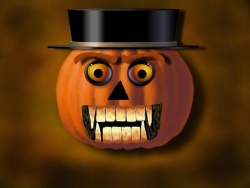Halloween pictures - Scary pumpkin face