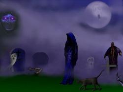 Halloween pictures - Graveyard