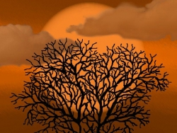 Halloween pictures - Love tree