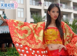 Celebrity photos - Miss World 07 - Zhang Zilin - Tradional uniform